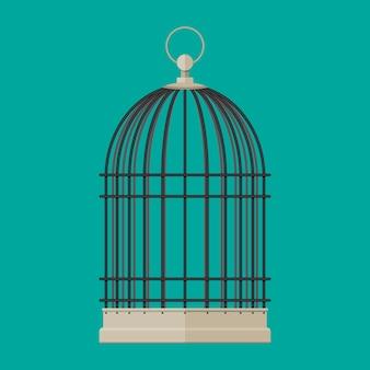 Cage métallique cylindrique oiseau de compagnie