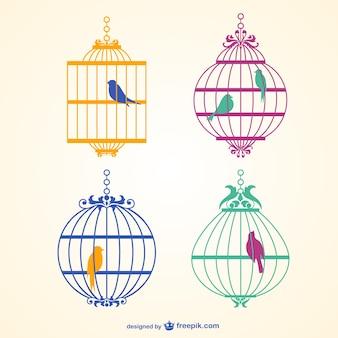 Cage à oiseaux vecteur