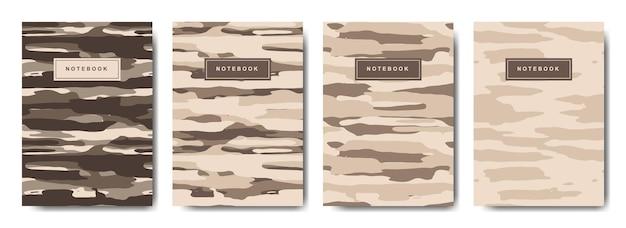 Cahier à couverture abstraite camouflage militaire et armée