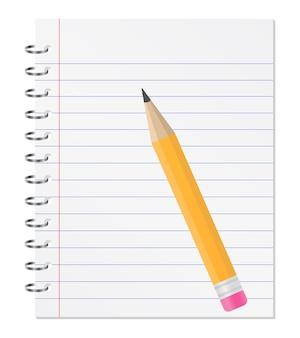 Cahier avec un crayon