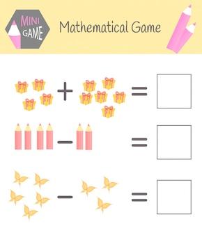 Cahier d'exercices sur les mathématiques pour l'éducation préscolaire
