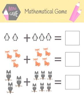 Cahier d'exercices sur les mathématiques pour l'éducation préscolaire.