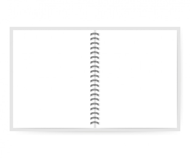 Cahier avec page blanche