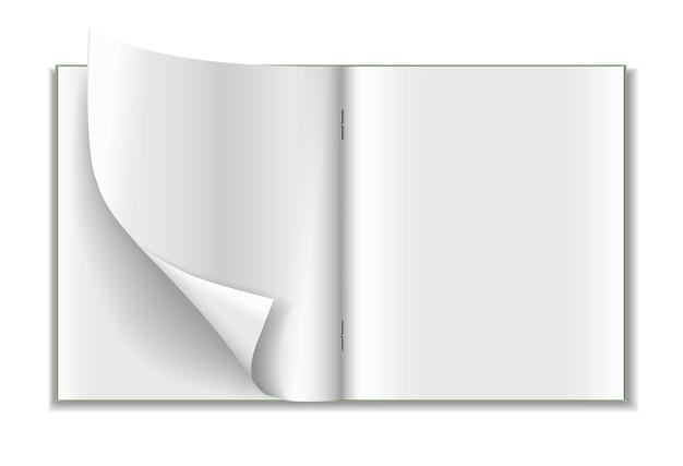 Cahier réaliste isolé sur fond blanc