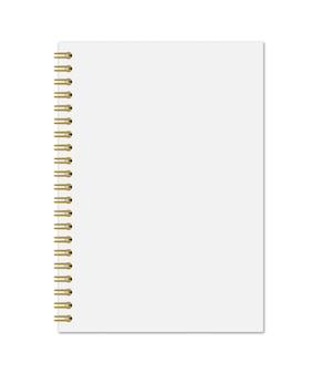 Cahier avec spirale dorée