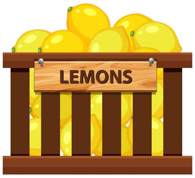 Une caisse de citron