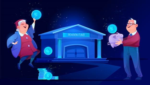 Caisse de pension et épargne bancaire. sécurité des grands-parents
