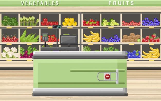 Caissier de supermarché