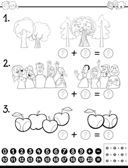 Calcul de maths activité coloriage