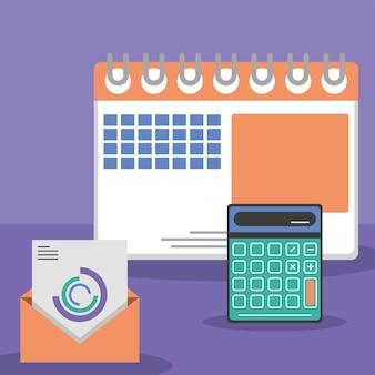 Calculatrice d'analyse et calendrier
