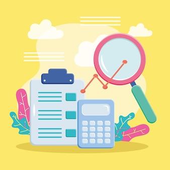 Calculatrice de documents et lupe