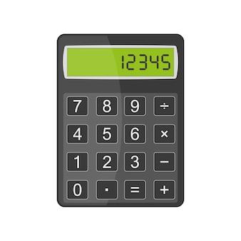 Calculatrice en illustration design plat