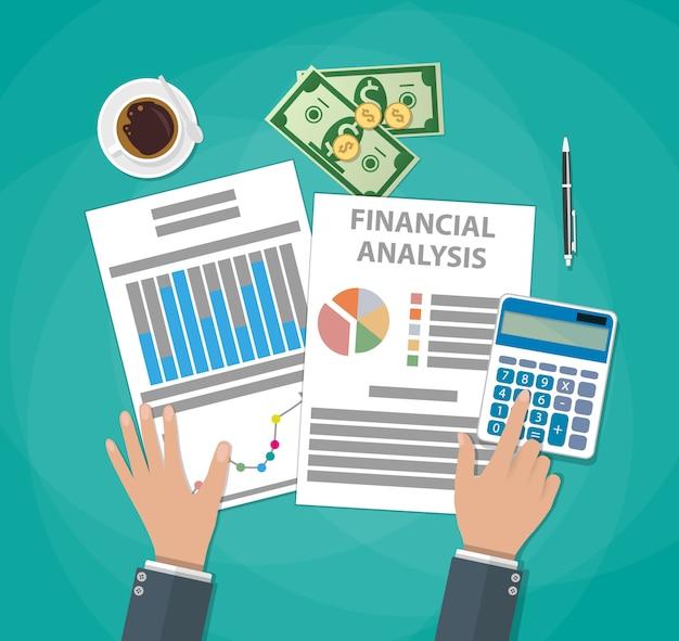 Calculs financiers. processus de travail