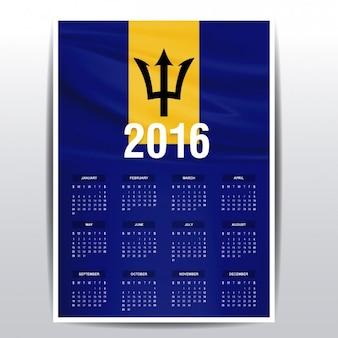 Calendrier 2016 de la barbade