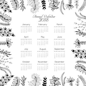 Le calendrier 2018 laisse le design