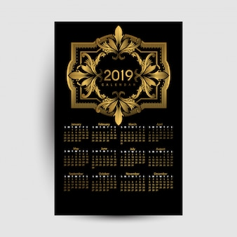 Calendrier 2019 luxe