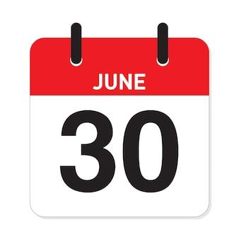 Calendrier 30 juin