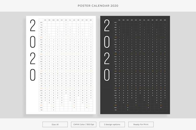 Calendrier affiche 2020