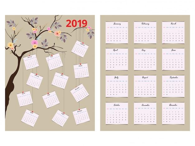 Calendrier annuel 2019.