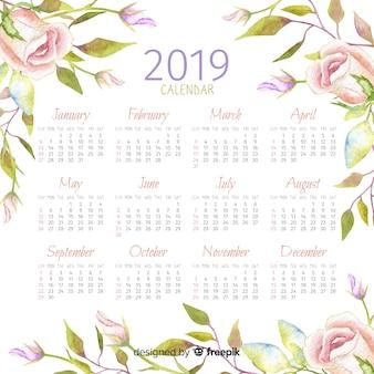 Calendrier aquarelle 2019