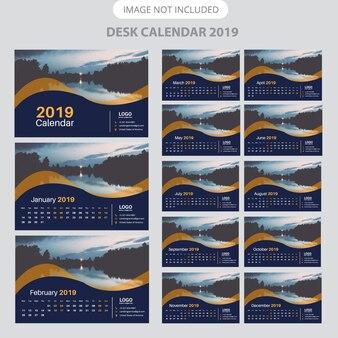 Calendrier de bureau 2019