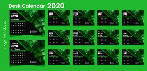 Calendrier de bureau 2020