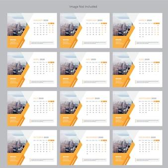 Calendrier de bureau d'entreprise 2020