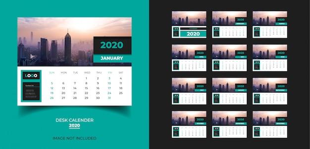 Calendrier de bureau pour le modèle 2020