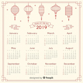 Calendrier chinois 2019