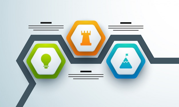 Calendrier coloré disposition d'infographie avec 3 étapes.