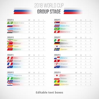 Calendrier de la coupe du monde 2018 de football en russie
