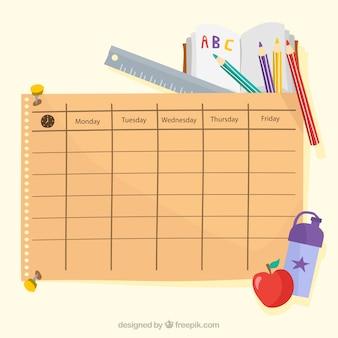 Calendrier des cours et éléments scolaires