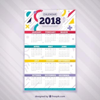 Calendrier décoratif 2018