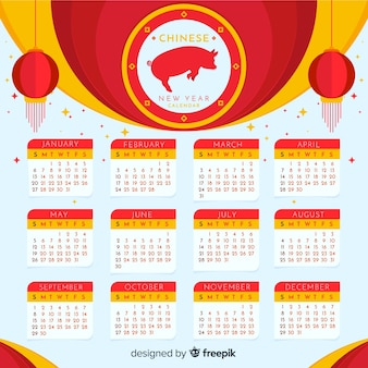 Calendrier du nouvel an chinois 2019