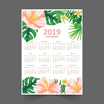 Calendrier floral 2019