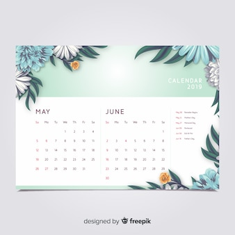Calendrier floral