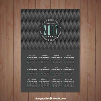 Calendrier foncé 2017 conception abstraite