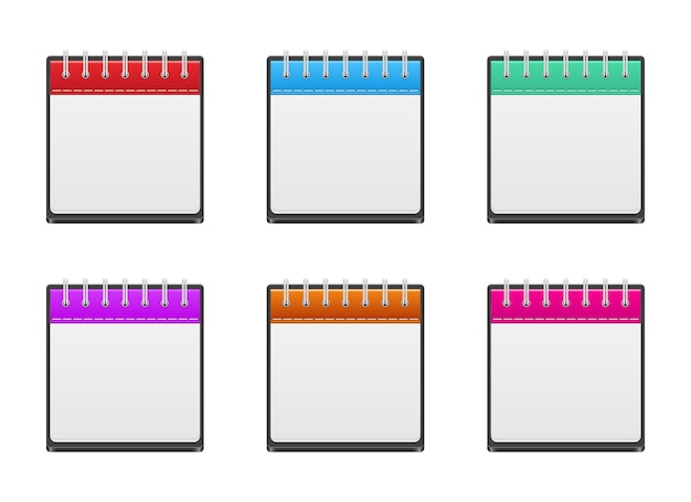 Calendrier icônes vector design illustration isolé sur fond blanc