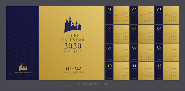 Calendrier islamique 2020 islamique