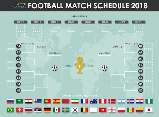 Calendrier des matchs de la coupe du soccer 2018