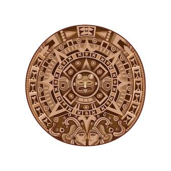 Calendrier maya de dessin animé