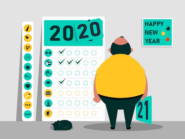 Calendrier de motivation pour le nouvel an 2020 2021.