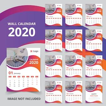 Calendrier mural 12 mois 2020