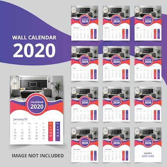 Calendrier mural 2020