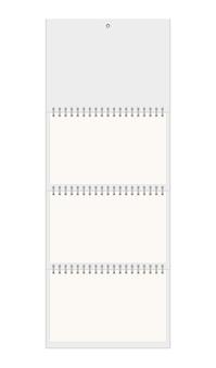 Calendrier mural blanc