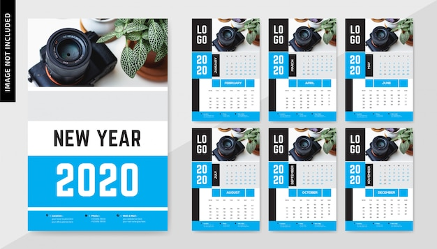 Calendrier mural photographie 2020