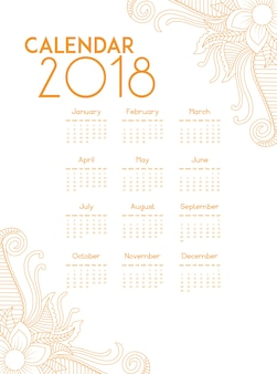 Calendrier d'or 2018
