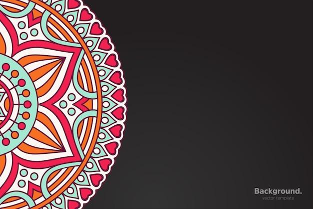 Calendrier avec ornement de style sombre mandalas