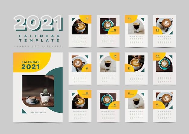 Calendrier de planificateur de décoration intérieure avec thème café.