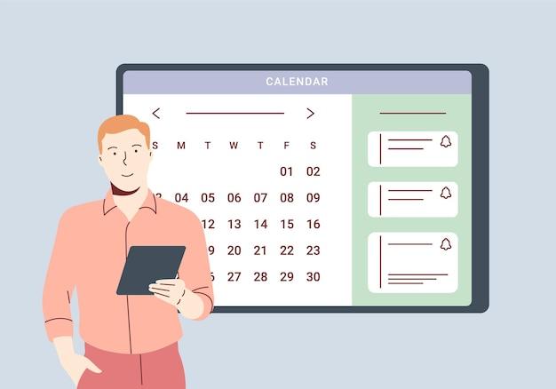 Calendrier de planification et concept de calendrier en ligne